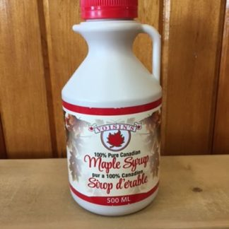 500ml Bottle of Voisin's 100% pure Canadian maple syrup