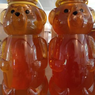 2 Bottles of honey in plastic bears
