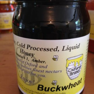 Cold processed liquid buckwheat honey