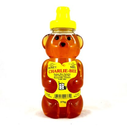 Charlie-Bee pure natural honey in a plastic bear bottle