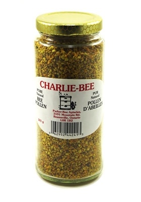 Jar of Charlie-Bee bee pollen