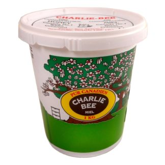 Pail of Charlie Bee pure Canadian Honey