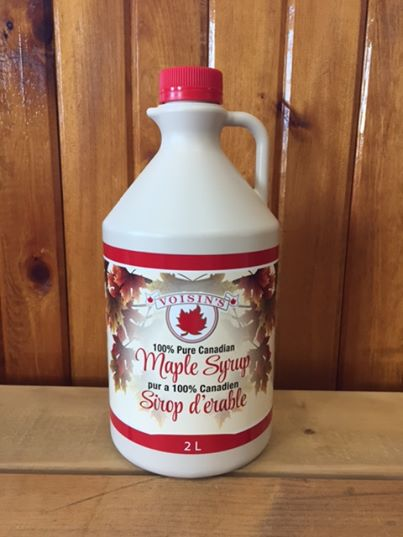 2L Jug of Voisin's 100% pure Canadian maple syrup