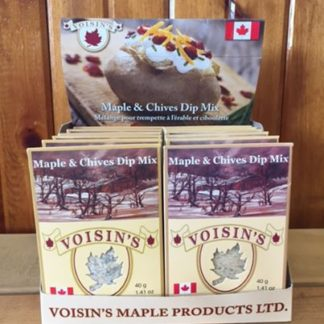 A display of Voisin's maple & chives dip mix